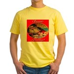 Season's Greetings Santa Yellow T-Shirt