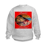 Season's Greetings Santa Kids Sweatshirt