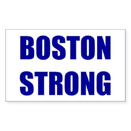 BOSTON STRONG - blue Sticker