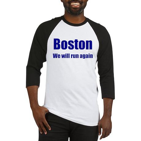 Boston: We will run again - blue Baseball Jersey