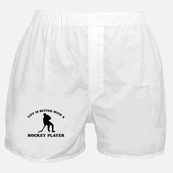 Hockey Player Designs Boxer Shorts