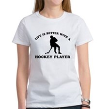 Hockey Player Designs Tee