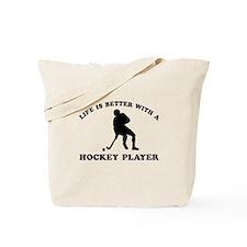 Hockey Player Designs Tote Bag