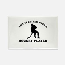 Hockey Player Designs Rectangle Magnet