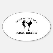 Kick Boxer Designs Sticker (Oval)