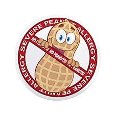 "Severe Peanut Allergy 3.5"" Button (100 pack)"