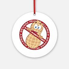 Severe Peanut Allergy Ornament (Round)
