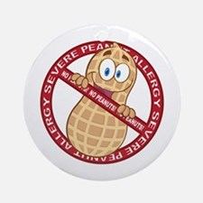 Severe Peanut Allergy Round Ornament
