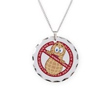 Severe Peanut Allergy Necklace Circle Charm