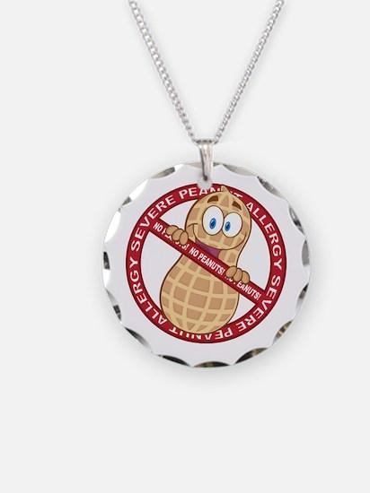 Severe Peanut Allergy Necklace Circle Charm