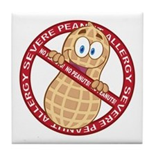 Severe Peanut Allergy Tile Coaster
