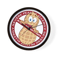 Severe Peanut Allergy Wall Clock