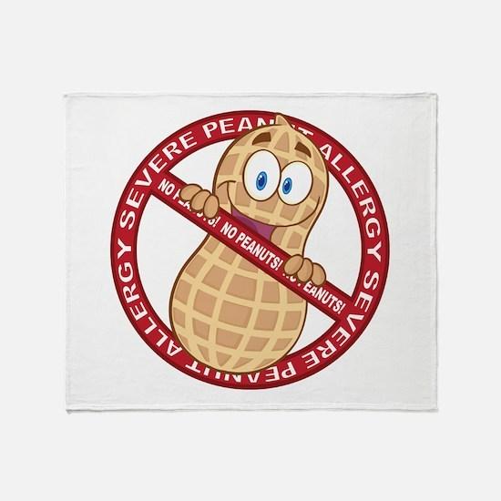 Severe Peanut Allergy Throw Blanket