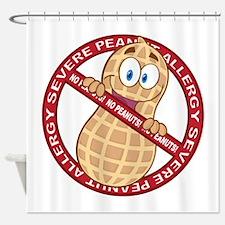 Severe Peanut Allergy Shower Curtain