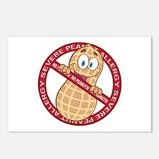 Severe Peanut Allergy Postcards (Package of 8)