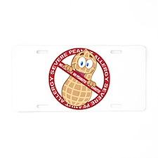 Severe Peanut Allergy Aluminum License Plate