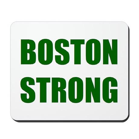 BOSTON STRONG - green Mousepad