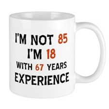 85 year old designs Small Mugs
