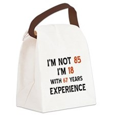 85 year old designs Canvas Lunch Bag