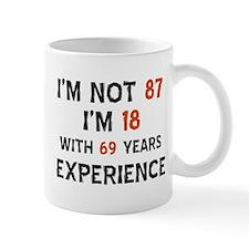 87 year old designs Small Mug