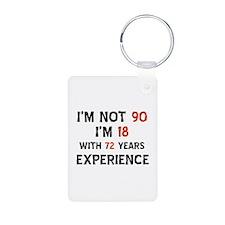 90 year old designs Keychains