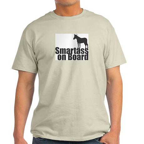 Smartass on Board Ash Grey T-Shirt