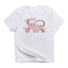 Hogs and Kisses Cute Piggies art Infant T-Shirt