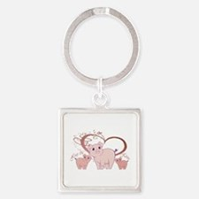 Hogs and Kisses Cute Piggies art Keychains