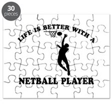 Netball Player Designs Puzzle