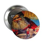 Season's Greetings Santa Button