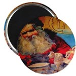 Season's Greetings Santa Magnet