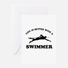 Swimmer Designs Greeting Card