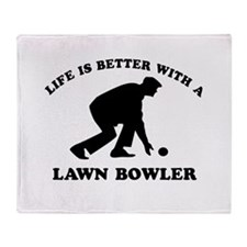 Lawn Bowler Designs Throw Blanket