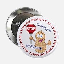 "Severe Peanut Allergy 2.25"" Button (10 pack)"