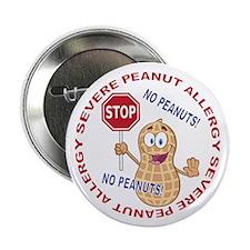 "Severe Peanut Allergy 2.25"" Button (100 pack)"