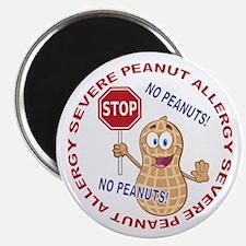 """Severe Peanut Allergy 2.25"""" Magnet (100 pack)"""
