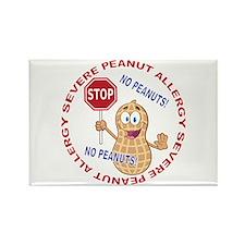 Severe Peanut Allergy Rectangle Magnet (10 pack)