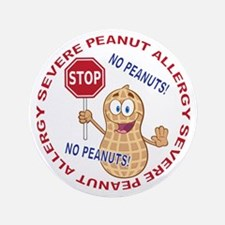 "Severe Peanut Allergy 3.5"" Button"