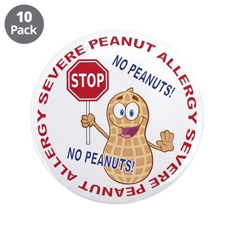 "Severe Peanut Allergy 3.5"" Button (10 pack)"