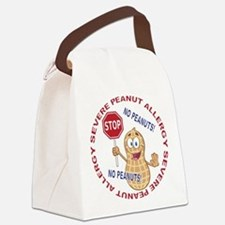 Severe Peanut Allergy Canvas Lunch Bag