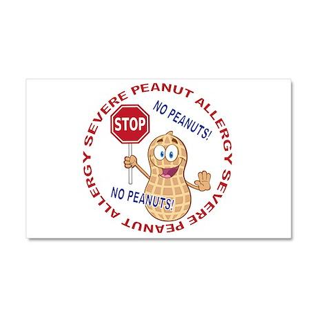 Severe Peanut Allergy Car Magnet 20 x 12