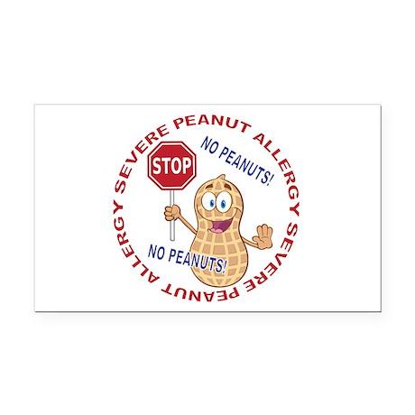 Severe Peanut Allergy Rectangle Car Magnet