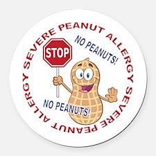 Severe Peanut Allergy Round Car Magnet