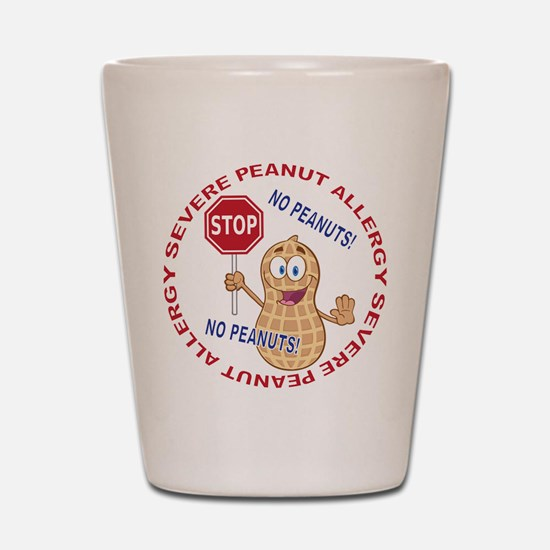 Severe Peanut Allergy Shot Glass
