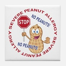 Severe Peanut Allergy Tile Coaster