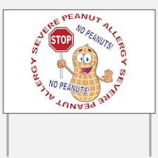 Severe Peanut Allergy Yard Sign