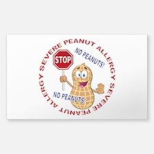 Severe Peanut Allergy Decal