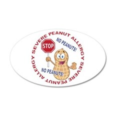 Severe Peanut Allergy Wall Decal