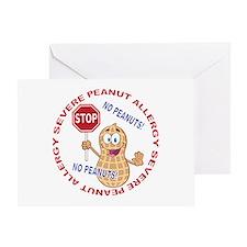 Severe Peanut Allergy Greeting Card
