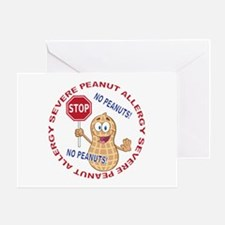 Severe Peanut Allergy Greeting Card
